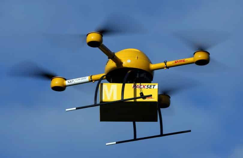 DHL has for the first time tested parcel deliveries with a drone