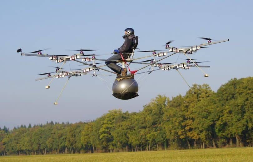 Benefits of flying large quadcopter