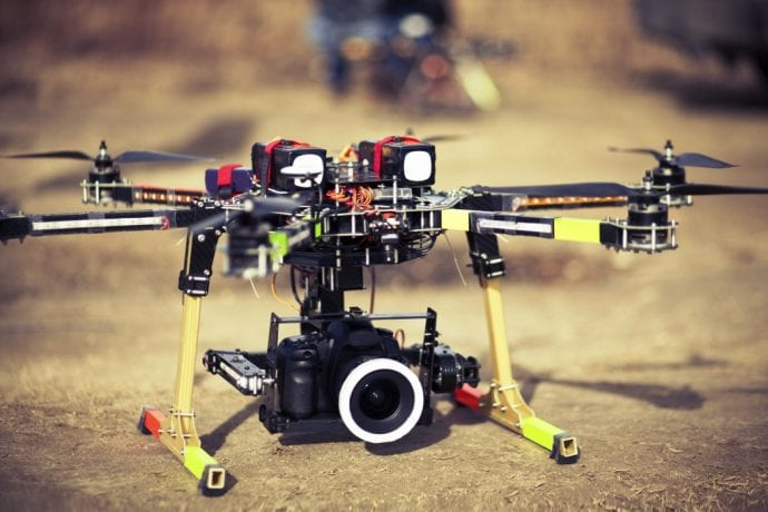 Camera On Drone For Aerial Photography
