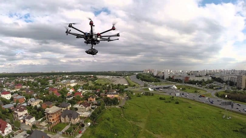 DJI S1000 Octocopter flight