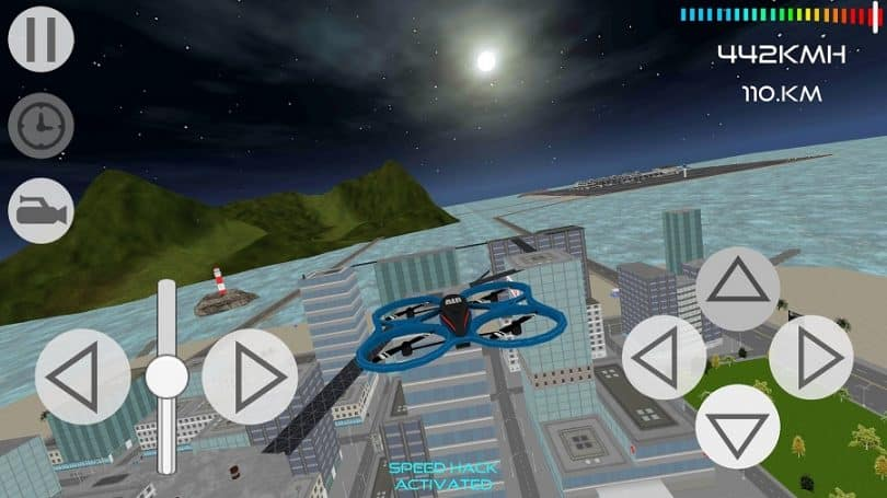 Drone simulator basic features