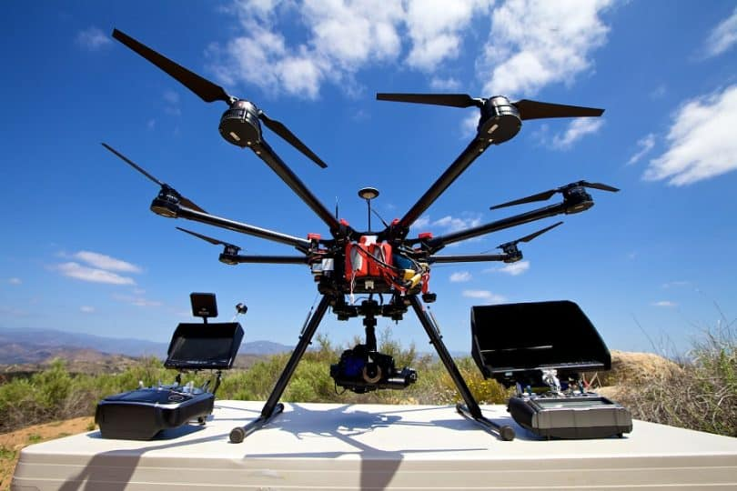 Drone with camera for photography