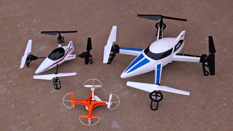 Micro and regular sized quadcopters