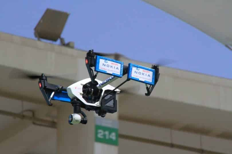 Nokia uses drones for network data collection