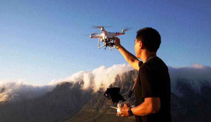 Photographing With Drone