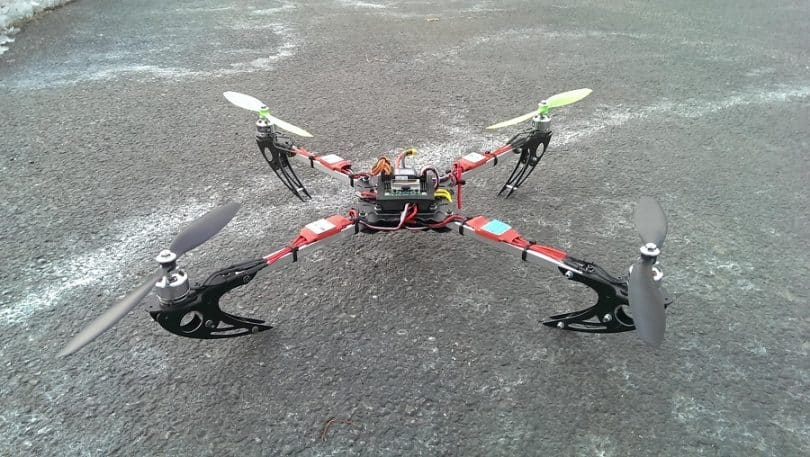 X525 V3 QuadCopter Folding Frame completed