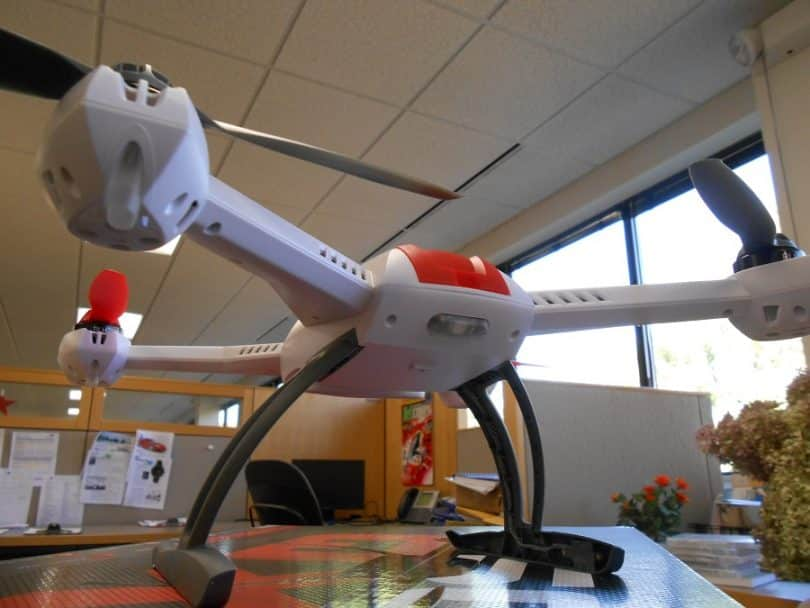 Blade 350 QX drone on the table