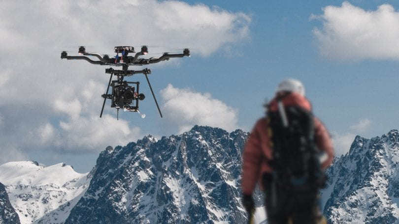 Drone for 4K filming in harsh enviroment