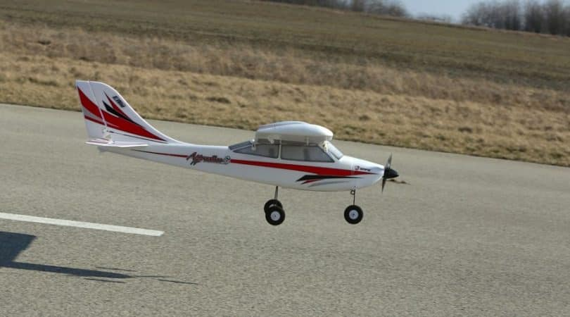 RC plane in action