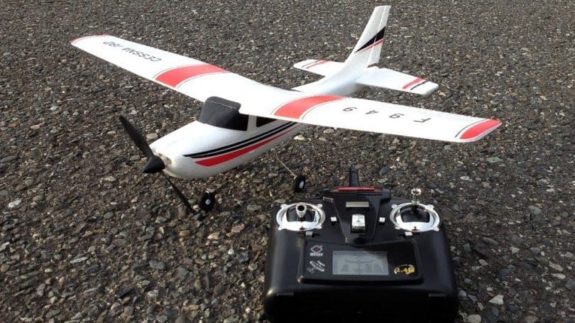 RC plane with controller