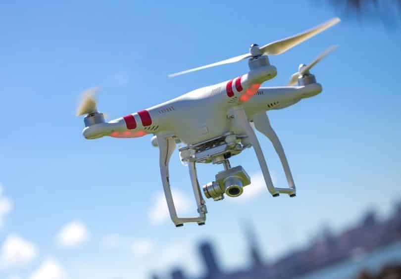 The DJI Phantom 2 Quadcopter drone