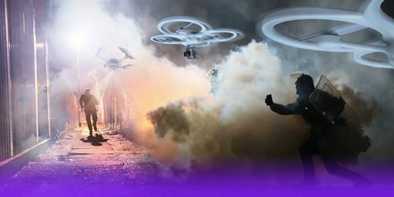Use of drones in bomb investigations