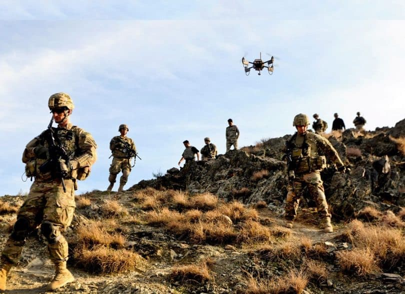 Use of drones in criminal surveillance as well as pursuit