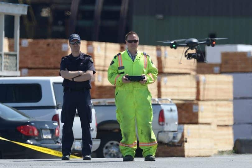 Use of drones in crime scene analysis