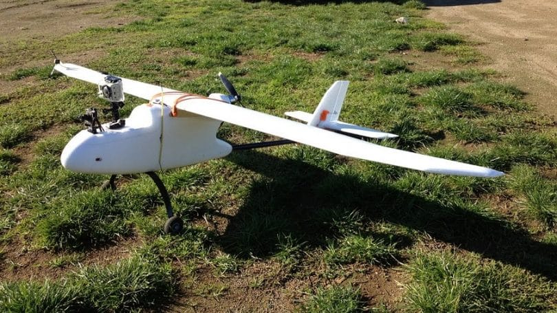 FPV RC Plane on the grass