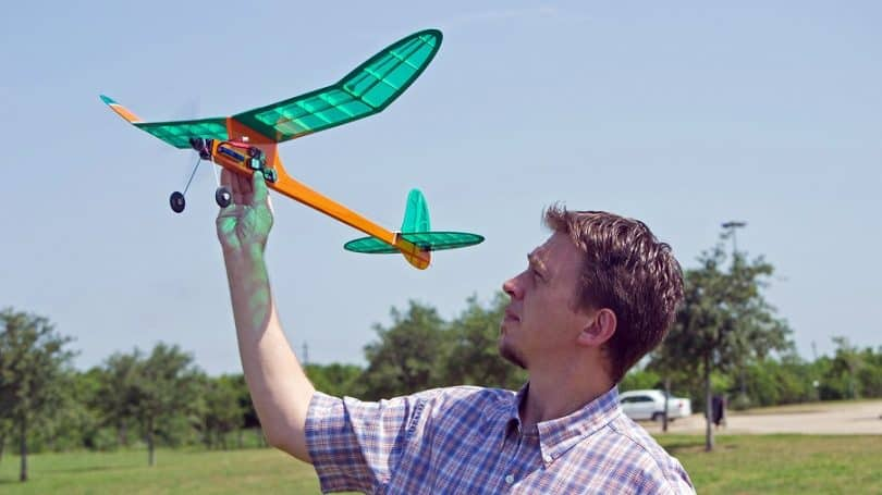 Practice RC plane flying