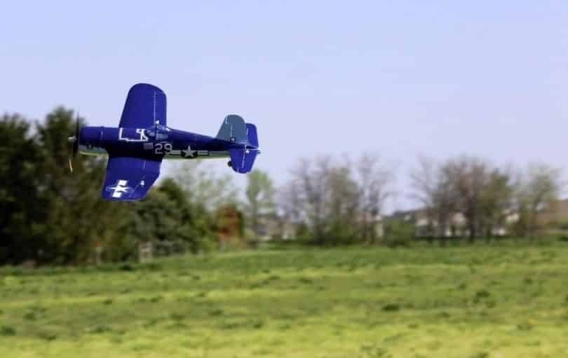 RC Plane in the air flying