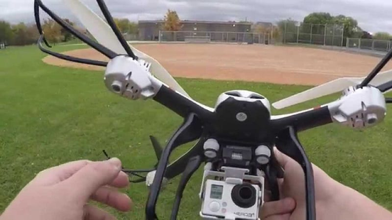 Ionic Stratus Drone camera attached
