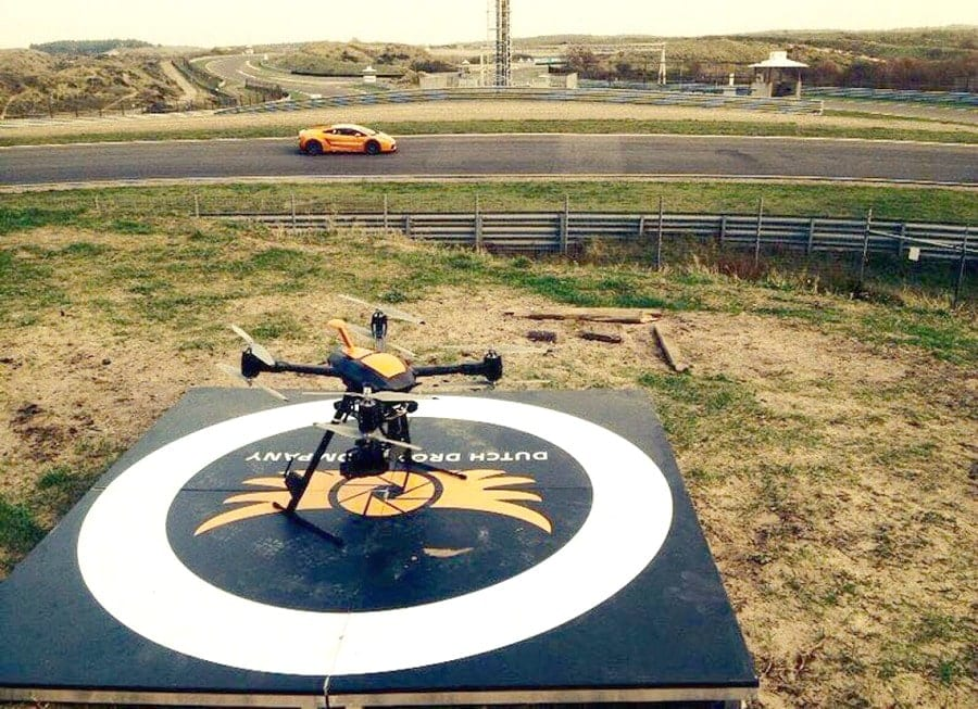 Dutch Drone Company with drone on the track