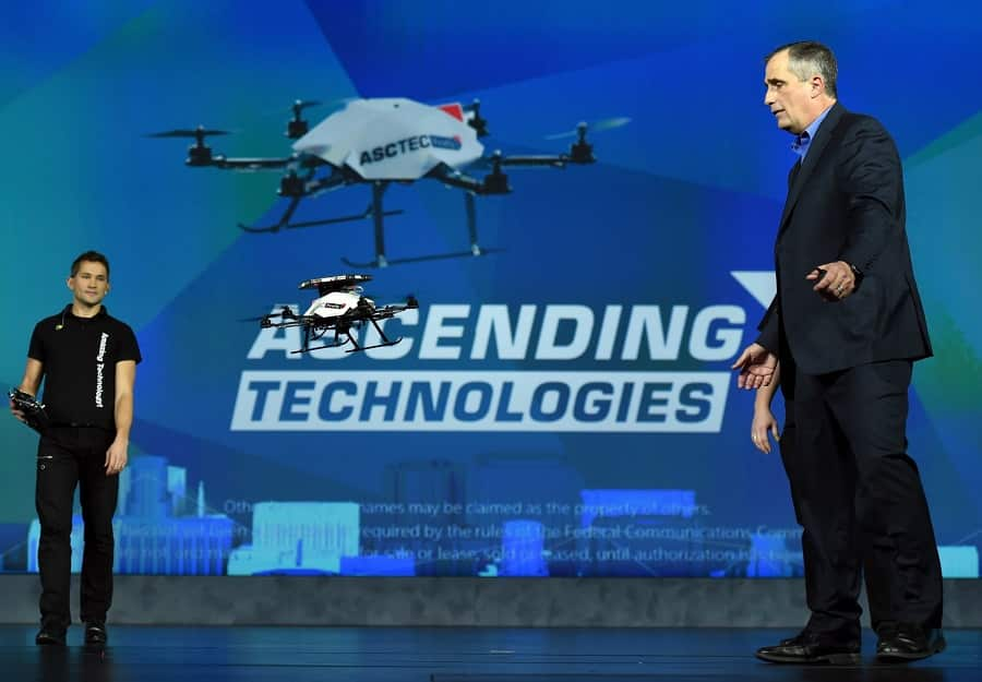Presenting and flying Ascending Technologies drone