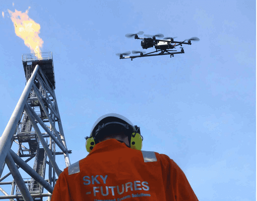 Sky-Futures drone flying