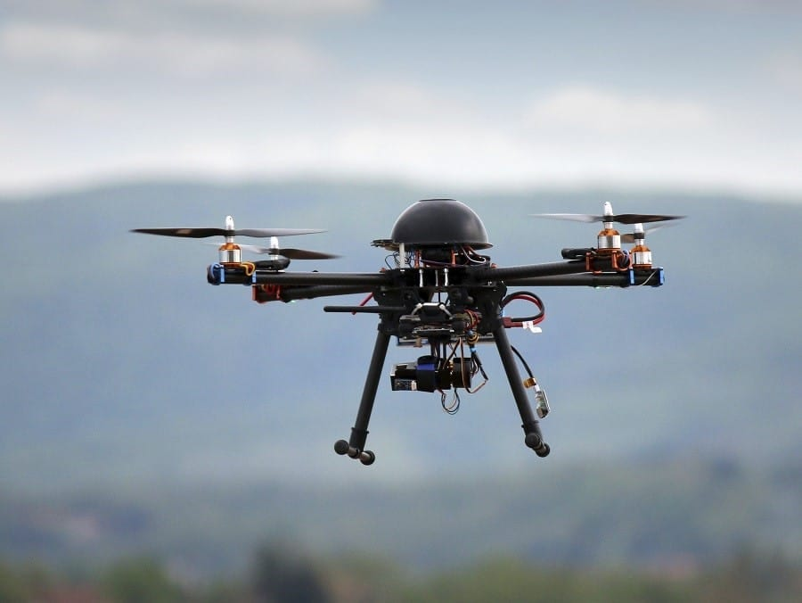 Valmie Resources Inc. drone in the air