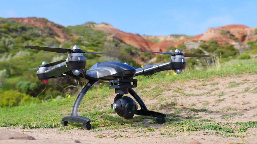 Yuneec Q500 4K drone on the field