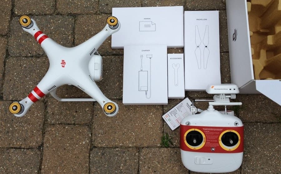 DJI Phantom 2 Vision Plus packing