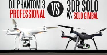 DJI Phantom 3 vs. 3D Robotics Solo